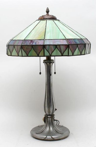 Handel Stained Glass Table Lamp, signed ($504.00)