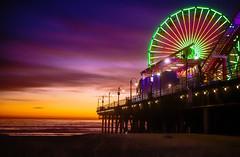 Santa Monica Lights. (Hanna Tor) Tags: light sunset santamonica hannator ocean sun pier