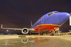 Southwest - N373SW - LIT (Jason W. Hamm) Tags: arkansas aviation airport aircraft airplanes adamsfield airlines boeing boeing737 737300 boeing737300 clintonnationalairport clouds d7000 737 nikon nikonphotography nightphotos nightphotography