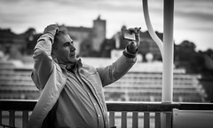 Self absorbed (Henka69) Tags: selfie streetphoto candid grnalund stockholm monochrome bus