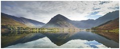 Buttermere Lake (IanMcConnachie) Tags: buttermerelake reflection landscapepanorama landscapephotography digitalphotography digital lakedistrictmoutaiin tees canon lakedistrict autumn autumnlandscape orange dof camera photography green yellow clouds water sky nature lake europe uk