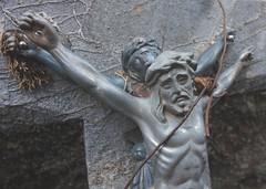 Two Christs (Stanza 61) Tags: jesus france cemetery christ sex sculpture art church religious blasphemy grave idolatry crucifixion passion bible cimetire cross
