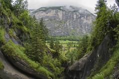 Landscape (nchavezm) Tags: lauterbrunnen switzerland mountains clouds trees forest rocks green landscape suiza montaas nubes arboles bosque rocas verde paisaje