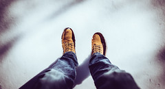 First step.... (Tim RT) Tags: tim rt first step snow winter season feet white blue orange brown still love it day awesome life new picture photography nature walk nikon nikor d810 20mm prime flickr