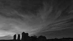 Waverley Abbey ruins dreaming of times long past (lunaryuna) Tags: england surrey farnham waverleyabbey ruins cistercianmonastery abandoned decayed forgottem dreaming night nightsky starrynight clouds nightmood blackwhite bw monochrome lunaryuna