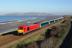67010 Penmaenmawr 25th November 2016 (John Eyres) Tags: 67010 fresh db colours working 1d34 0950 manchester piccadilly holyhead arriva loco hauled 251116
