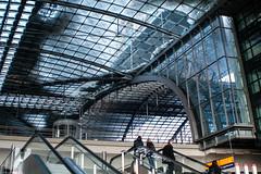Berlin Hauptbahnhof, central station (Phototravelography) Tags: 2010 berlin hauptbahnhof centralstation glass reflections winter building architektur germany