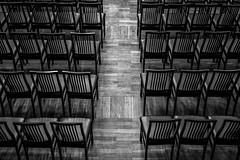 Patterns (Pr Keedus) Tags: symmetry geometry blackwhite blackandwhite bw monochrome chairs indoor interior lines art fineart perspective fuji fujifilm xf35 eesti estonia hopnerimaja patterns pattern minimalism texture grid geometric