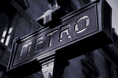 Metro Chatelet (Alex Szymanek) Tags: metro chatelet paris signe station underground blackwhite markiii canon urban city urbanite sign center