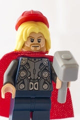 Hard hats must be worn at all times (tomtommilton) Tags: hardhat macro film hammer comics movie toy toys photo lego god helmet safety photograph legos movies minifig minifigs thor marvel supermacro thunder avengers asgard minifigure avenger minifigures mjolnir
