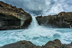 Aldeyjarfoss Iceland (Einar Schioth) Tags: summer sky cliff cloud lake water clouds canon landscape photo waterfall iceland day outdoor ngc picture ísland nationalgeographic aldeyjarfoss einarschioth