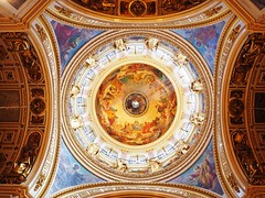 St Isaac's Cathedral, St Petersburg (crittkat) Tags: light art church window stpetersburg religious cathedral russia olympus massive cupola dome ethereal colourful architects fresco omd