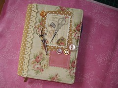 sewing notebook cover (delsdesignz) Tags: notebook idea handmade sewing diary journal fabric cover