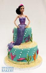 Barbie Mermaid (Swedish Bakery Chicago) Tags: ocean blue fish cakes cake coral mermaid fondant swedishbakery