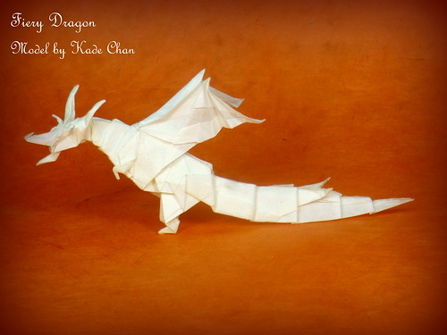 I made a fiery dragon! (Kade Chan) : origami | 375x500