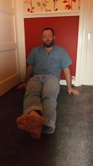 DSCF6698 (rugby#9) Tags: door people feet wall shirt belt floor jeans barefoot barefeet levis blackbelt 501s denimshirt shortsleeveshirt levijeans levi501s 501jeans levi501 denimshortsleeveshirt
