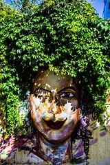 Street (E.Demiray) Tags: street travel streetart color art girl beautiful wall photography graffiti bozcaada greenhair