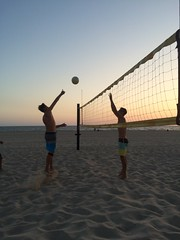 Guys Practice Spike Sunset (1)