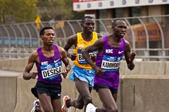 Desisa, Biwott, and Kamworor Vie For The Lead (maisa_nyc) Tags: nyc newyork bronx marathon nycmarathon runner newyorkcitymarathon madisonavenuebridge lelisadesisa stanleybiwott tcsnycmarathon geofferykamworor
