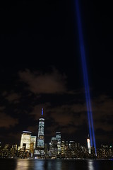 9-11 Tribute In Light 11 (Amaury Laporte) Tags: newyorkcity usa newyork unitedstates 911 landmarks northamerica tributeinlight memorials september11memorial