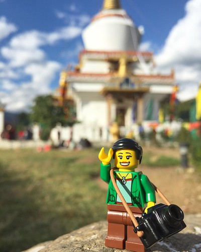 #Legopau taking a break from shooting portraits and stupas too. #Bhutan #lego #legostagram #love