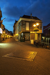 Schiedam, Hoogstraat (Jan Sluijter) Tags: blue holland nederland bluehour schiedam hoogstraat achterweg visitholland