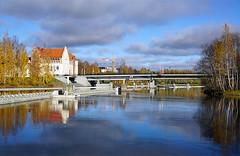 Joensuu - Finland (Sami Niemelinen (instagram: santtujns)) Tags: city bridge building colors suomi finland river colours north autumm joensuu syksy rakennus silta joki karjala kaupunki carelia vrit pohjois tyttlyseo sirkkalansilta pielisjokis