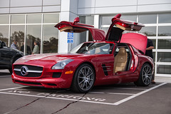 SLS AMG (twinsfan7777) Tags: red car canon mercedes cool gull style expensive sleek supercar sls sportscar amg gullwing