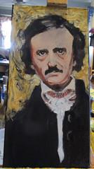 Poe 2 Stage 4 (kevin63) Tags: portrait painting 19thcentury american poet writer author lightner edgarallenpoe artfinder