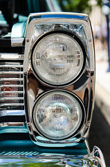 Light column (GmanViz) Tags: color detail ford car nikon automobile headlights bumper fender chrome grille 500 galaxie 1965 gmanviz d7000