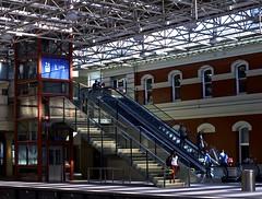 Lift (Padmacara) Tags: stair lift escalator australia perth g11 shadowlight perthstation