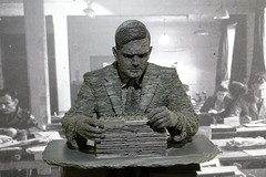 Turing Statue (mlcastle) Tags: uk england statue computerscience alanturing turing bletchleypark bletchley cryptographer entscheidungsproblem foursquare:venue=4ae33adcf964a520029221e3 crypography