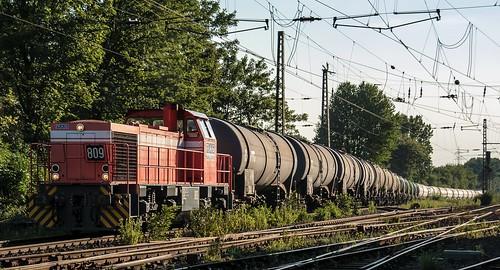 """18.07.2006 Gelsenkirchen Bismarck. RAG 809 mit Kesselzug Abz """"Unser Fritz"""""""