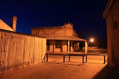 Grenfell Alleyway (Darren Schiller) Tags: longexposure building heritage night pub alley lane newsouthwales grenfell corrugatediron