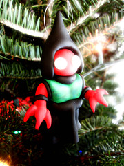Flatwoods Monster (Tom Bagley) Tags: christmas canada tree calgary monster weird glow alien eerie creepy fimo ornament alberta sculpey cryptozoology cryptid tombagley flatwoodsmonster