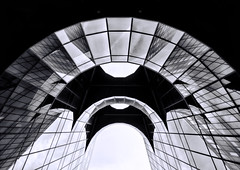 Parabolic Revisted -Explored (Joseph Pearson Images) Tags: blackandwhite bw abstract building london architecture mono normanfoster curve parabolic parabola pwc fosterandpartners 7morelondonriverside
