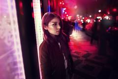 A & Midnight city (Terez Markova) Tags: midnight prague street colours neon glitters fashion portr portrait girl city pink bright