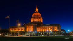 City hall (davidyuweb) Tags: city hall orange light go giants wild card game luckysnapshot sfist moon