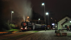 2013-12-14 Night Train (beranekp) Tags: czech railway eisenbahn železnice parní dampf steam locomotive lokomotiva night nacht bahnhof station praha prag prague bráník