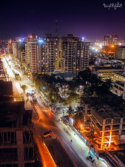 Night In The City (TanjilRahman) Tags: dhaka night nightlife city cityscape nightlight bangladesh light lighting building sky skyscrapers eskaton traffic samsung tanjil lightroom photoshop photography streetphotography nightphotography nikon canon