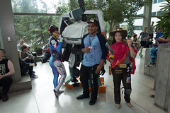 PAX West 2016 Cosplay (darkwingzerotwo) Tags: pax paxwest paxwest2016 cosplay overwatch dva mccree bastion