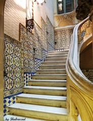 Fancy staircase (Shahrazad26) Tags: palaudellbarodequadras barcelona modernismo architectuur architecture spanje spain spanien espagna espagne stairs trap treppen joseppuigicadafalch