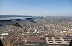 Taking Off in Phoenix (craigsanders429) Tags: aboardaplane americanairlines phoenix phoenixskyharborairport departingaircraft airbus319 airportrunways mountains valleyofthesun aircraft