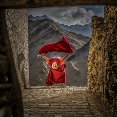 Monk at Lamayuru- (naomipics) Tags: matchpointwinner mpt503 lptravel2016