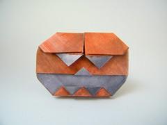 Standing Jack (variation 3) - Francesco Mancini (Rui.Roda) Tags: origami papiroflexia papierfalten pumpkin abobora citrouille halloween standing jack francesco mancini