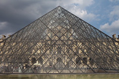 The Louvre Pyramid (Mikey Down Under) Tags: thelouvre louvre art museum paris france francais glass pyramid building architecture landmark