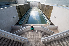 General view Osaka Prefectural Sayamaike Museum in courtyard () (christinayan01) Tags: tadao ando architecture building perspective concrete osaka japan museum pond