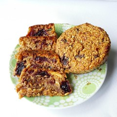Delicious Vegan Fruit Muffins (myhealthydessert) Tags: muffins glutenfree vegan baked baking sweet dessert desserts dairyfree fruit fruits eggfree dates oats oat flour recipe recipes