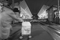 THE STATION (ajpscs) Tags: ajpscs japan nippon  japanese  tokyo  nikon d750 streetphotography street summer shitamachi monochromatic grayscale monokuro blackwhite blkwht bw blancoynegro nightshot tokyonight nightphotography togoshiginzastation crossingthestation