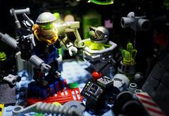 '5L-1MY' A.R.C. Bot (TFDesigns!) Tags: lego space robot cyclops slimestars droid scene vignette